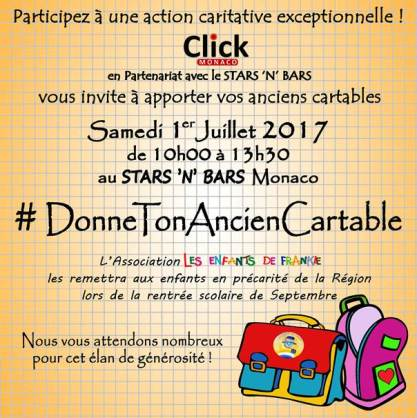 Donate your used school bag to the Enfants de Frankie