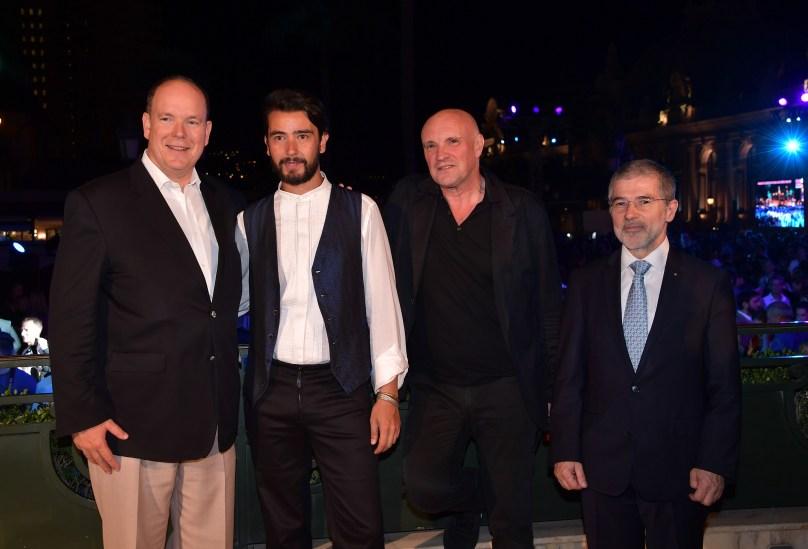 HSH Prince Albert with Antonio Castrignano, Jean-Christophe Maillot and Patrice Cellario ©Charly Gallo - Manuel Vitali : Direction de la Communication