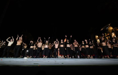 The dancers from the Monte-Carlo Ballet after their performance ©Charly Gallo - Manuel Vitali : Direction de la Communication