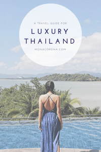 The Ultimate Guide to Thailand for an affordable luxury experience. www.monacorona.com #Thailand #Phuket #KohPhiPhi #Krabi #KohSamui #ChiangMai