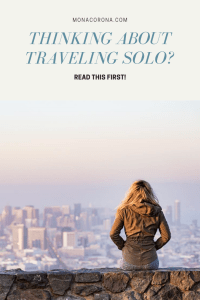 Are you a solo female traveler or are thinking about traveling alone for the first time? Read this Q&A that answers all the frequently asked questions about traveling alone as a woman   MonaCorona.com   #solofemaletravel #solofemaletraveler #solofemaletraveller #solotravel #travel #tips #traveltips #travelinspo #wanderlust #traveltipsforwomen #womentravel #femaletravel
