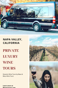 Click here for a Napa Valley Travel Guide and review of a luxury Napa Valley wine tasting tour. In this guide you will also learn where to stay in Napa Valley, & the best things to do in Napa Valley, California.   MonaCorona.com   #napavalley #calistoga #yountville #travel #hotels #wineries #winetasting #itinerary #honeymoon #romanticgetaway #restaurants #vacation #california #usa #wheretostayin #thingstodoin #girlstrip #bacheloretteparty #wanderlust #bucketlist #travelguide