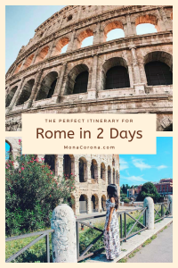 Click here to view the most perfect and best Rome itinerary. Here you will find the top things to see in Rome, the best places to eat in Rome, Where to stay in Rome, and the best hotels in Rome. This first time Rome travel guide has everything you need to know about planning your trip to Rome, Italy. | #monacorona #monacoronadotcom #rome #italy #itinerary #thingstodoin #colosseum #europe #travel #thingstodo #hotels #terrace #restaurants #food #tips #wheretostayin #trastevere #pantheon