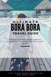 All your questions about traveling to Bora Bora answered in this ultimate Bora Bora travel guide & Bora Bora travel video. Read about where to stay in Bora Bora, Overwater Bungalows / How much does Bora Bora cost / Is Bora Bora expensive / What to do in Bora Bora / Traveling to Mo'orea and Tahiti from Bora Bora, and more. All your questions answered here about your Bora Bora vacation or Bora Bora holiday. | #monacorona #borabora #travel #frenchpolynesia #itinerary #guide #island #tahiti #moorea