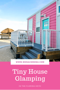 Go glamping in the Florida Keys in a Tiny House! Just 30 miles from Key West, you'll find Petite Retreats Sunshine Key Tiny Village at Encore RV park in Ohio Key. These colorful and luxurious tiny houses have everything you need inside! Beautifully modern with a full kitchen, bathroom, and sleeps up to 6 people. It's better than a hotel or resort and near all the best things to do in the Florida Keys. A luxury camping trip awaits you! #floridakeys #Keywest #tinyhouse #tinyhouseliving #glamping