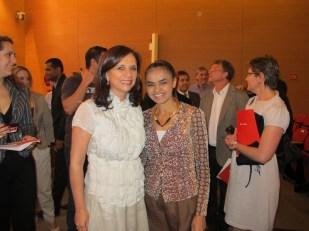 Mona Dorf apresentou no Santander o Evento Práticas de Educação para Sustentabilidade com Marina Silva