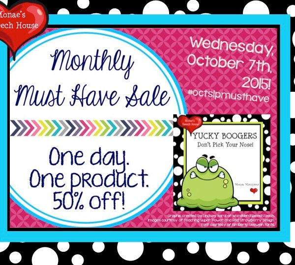 ONE DAY 50% OFF for MUST HAVE BOOGERS BOOK