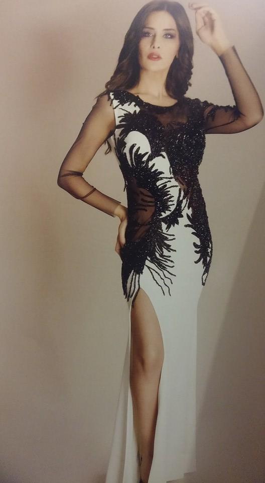 robe libanaise noire et blanche moderne