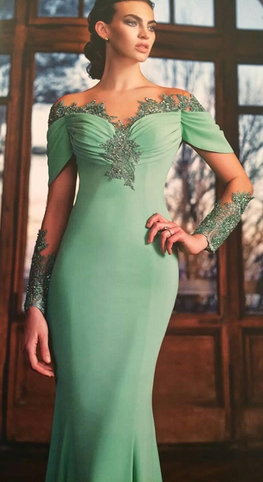 robe libanaise turquoise