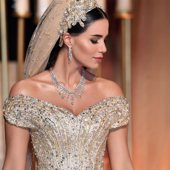 plus belle robe de mariée au monde style oriental libanais