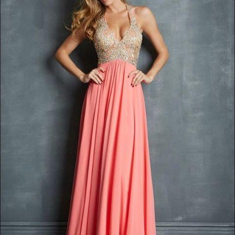 robe de soirée rose et grise mariage oriental