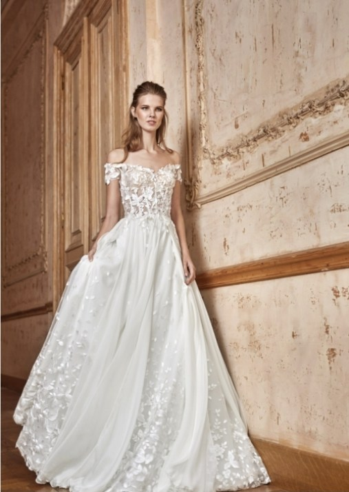 robe de mariée blanche dentelle Tarik Ediz