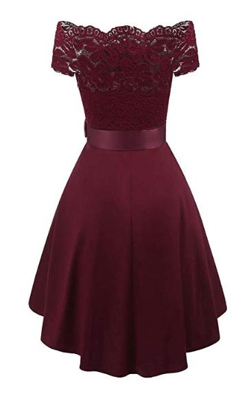 Robe demoiselle d'honneur bordeaux rouge profond bourgogne cerise