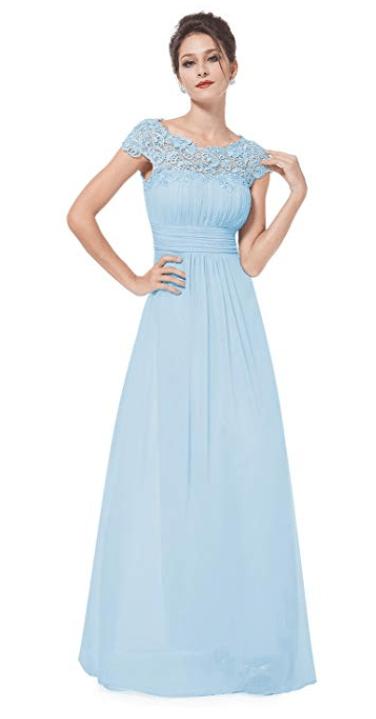 Robe demoiselle d'honneur bleu bohème