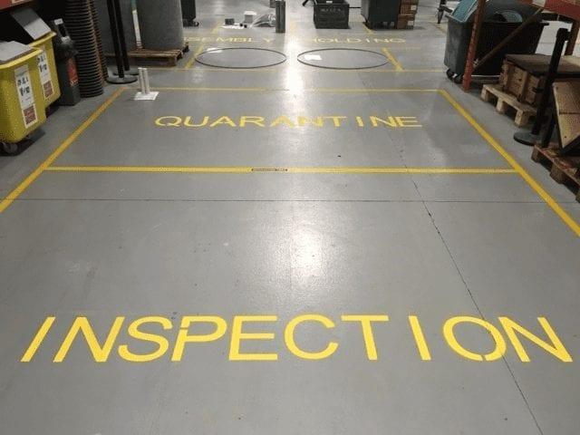 Line markings using resin - Monarch Resin Flooring