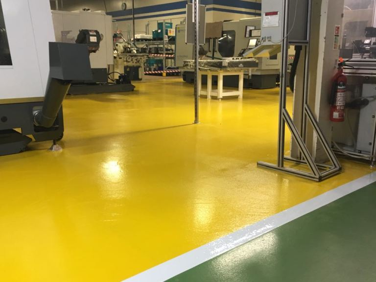 Monarcoat 720 - Yellow - Factory flooring - Monarch resin flooring