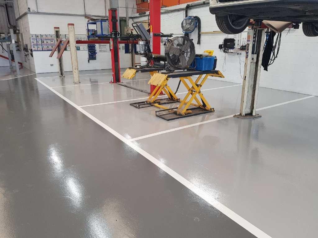 automotive resin floor coating