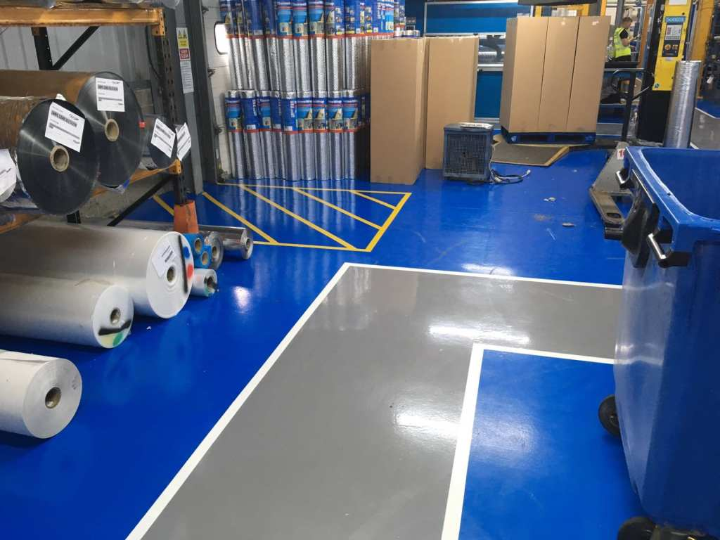Demarcation and Resin Line Marking for Factories