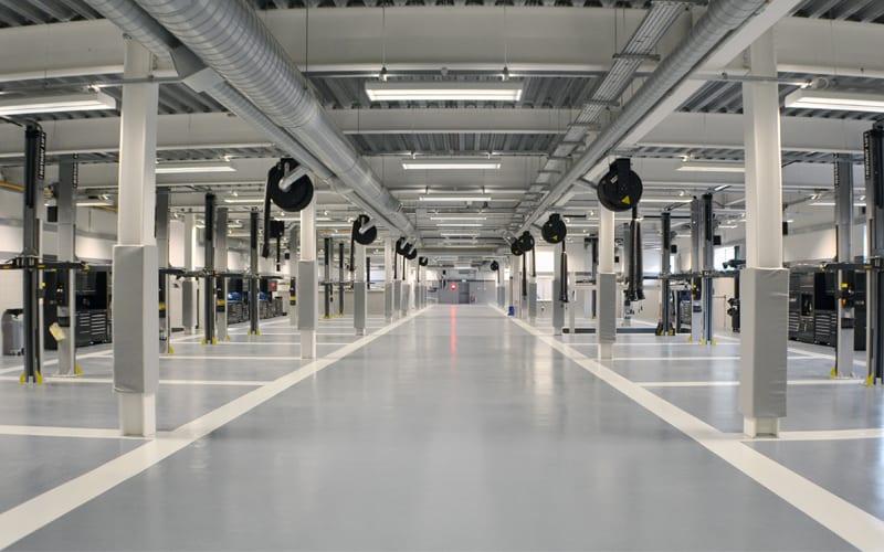 epoxy resin workshop floor london