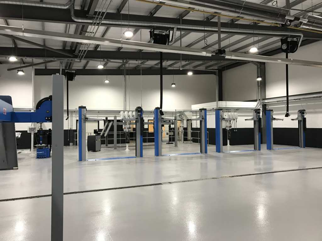 resin flooring in car workshop York