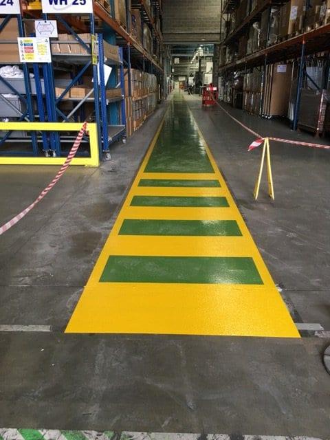 industrial gangway floor