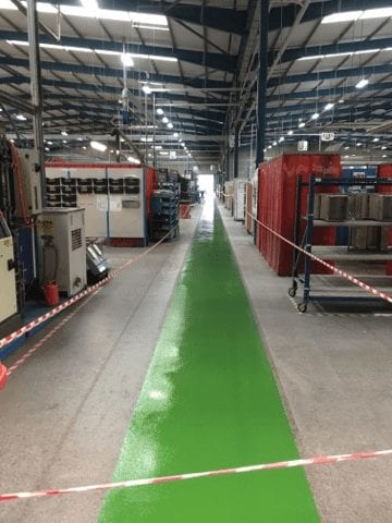 resin gangway floor in factory