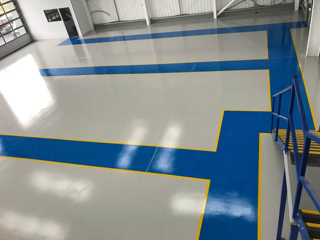 manufacturing resin floor