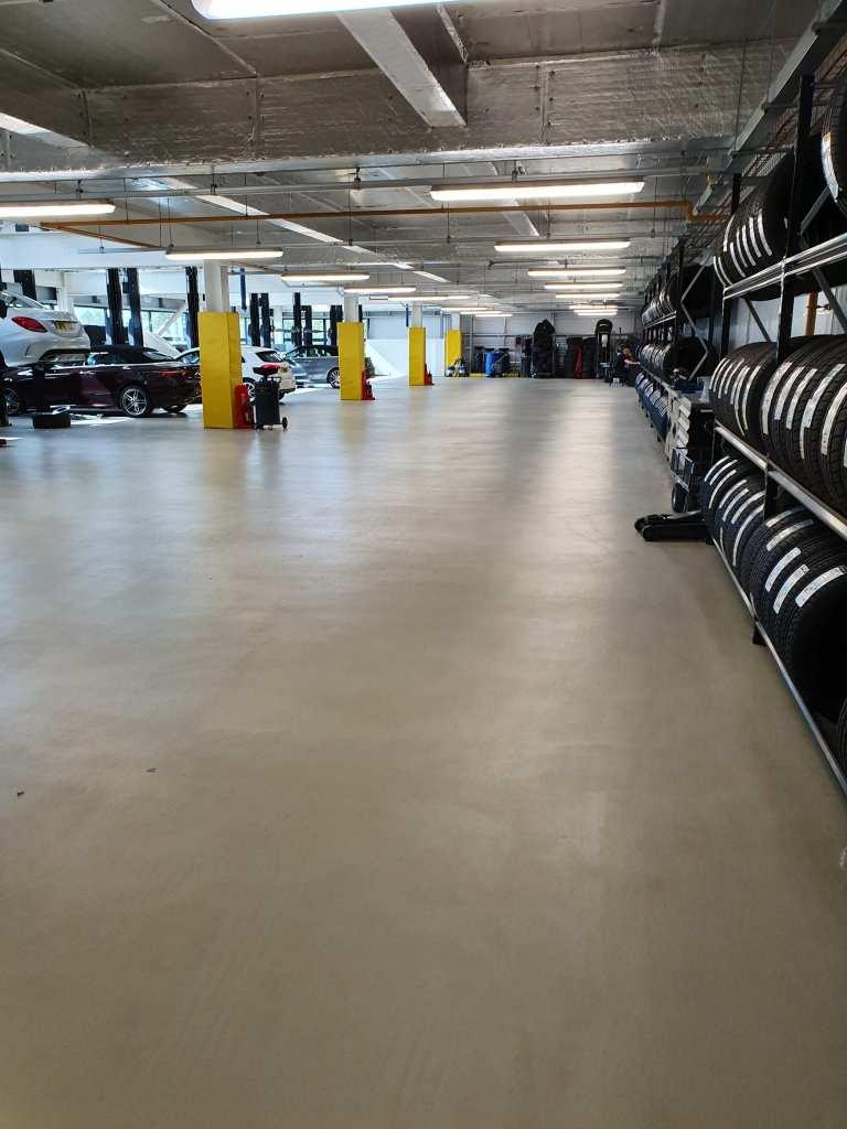 workshop floor mercedes stockport monargrip