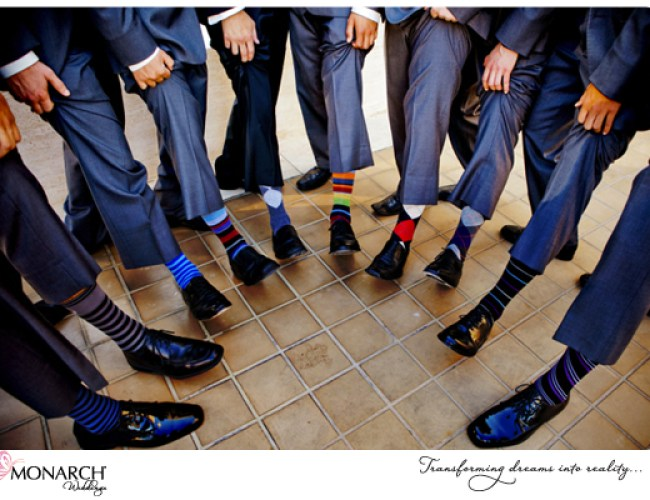 Groomsmen-argyle-socks-westgate-hotel-wedding