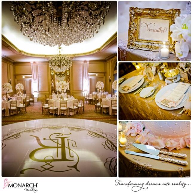 Westgate-Hotel-Versailles-ballroom-chandeliers-blush-french-vintage-wedding