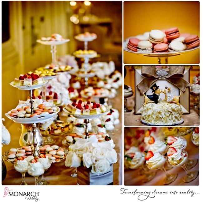 Blush-french-vintage-wedding-dessert-table-macaroons-grooms-cake-westgate-hotel