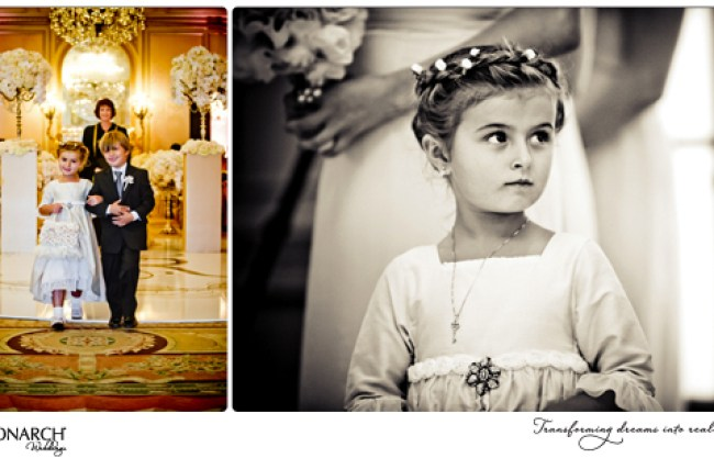 Flowergirl-and-ring-bearer-french-vintage-wedding-westgate-hotel