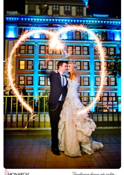Sparkler-wedding-shot-making-heart-rooftop-Westgate-Hotel-Wedding