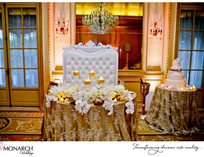Blush-french-vintage-lace-westgate-hotel-wedding-leather-throne-chair