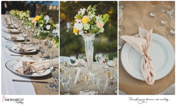Peach-Napkin-burlap-runner-Rustic-Shabby-Chic-Wedding-Del-Sur-Ranch-House