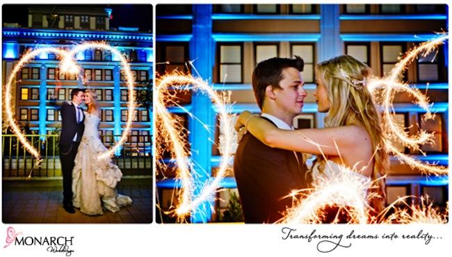 wedding-sparklers-heart-shaped-design-and swirls-westgate-hotel
