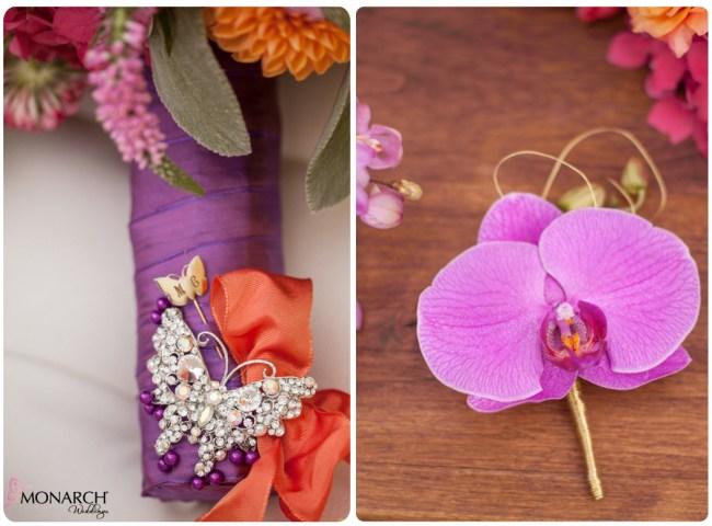 Purple-Phalaenopsis-bridal-bouquet-boutineer-exquisite-weddings