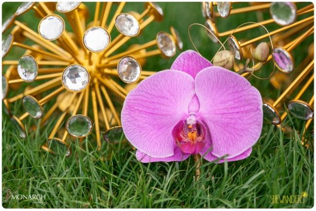 Purple-Phalaenopsis-Boutineer-gold-spheres