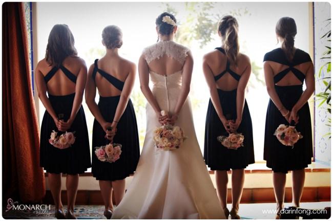 Bridesmaids-black-dress-la-valencia-hotel-wedding