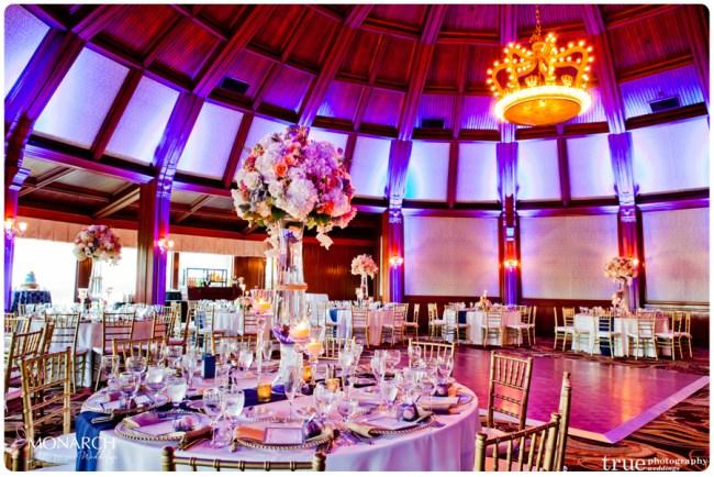 Room-Shot-Blue-uplights-Nautical-theme-wedding-hotel-del-coronado