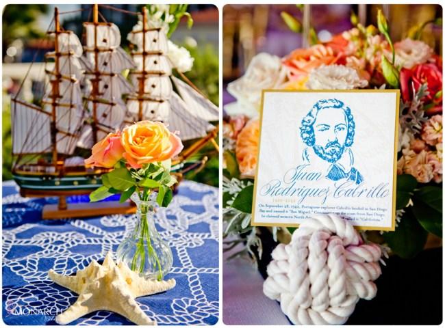 Nautical-knot-table-sign-holder-Nautical-theme-wedding-hotel-del-coronado