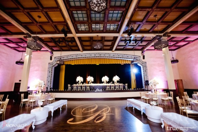 Prado-at-balboa-park-wedding-blush-uplights-gobo-lounge-pieces