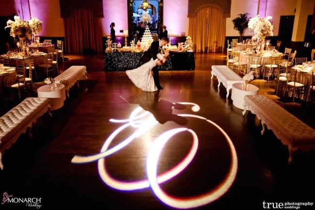 Prado-at-Balboa-Park-wedding-gobo-dancefloor-white-lounge-pieces