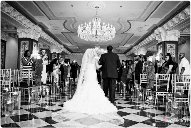 Bride-and-groom-coming-down-aisle