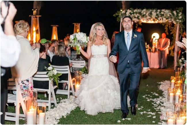 Evening-wedding-Bride-groom-aisle-hotel-del-wedding