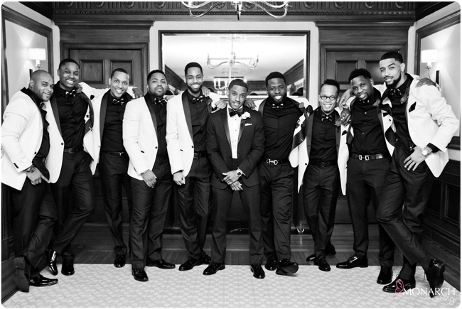 Groom-groomsmen-black-white-photo