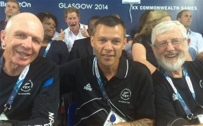 Prince Harry photoboms part of the New Zealand Commonwealth Games team - 2014.