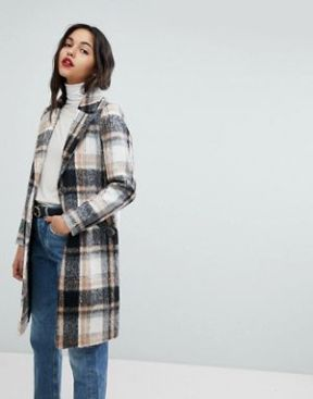 manteau carreau river island
