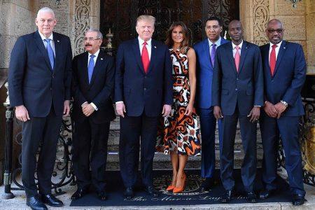 What Melania Wore Hosting Caribbean leaders at Mar-a-Lago