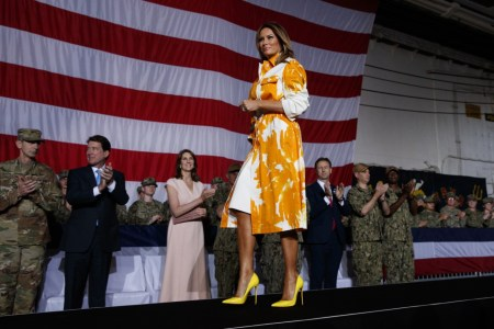 What Melania Wore For Memorial Day Visit With Troops inJapan